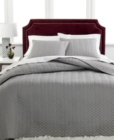 Charter Club CLOSEOUT! Damask Collection Herringbone Pima Cotton 2-Pc Twin Quilted Bedspread Set