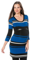 A Pea in the Pod 3/4 Sleeve Scoop Neck Belted Maternity Tunic