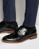 Dune Brogues In Black Leather