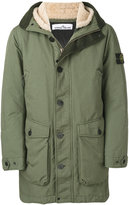 Stone Island hooded parka coat