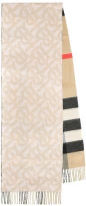 Burberry Monogram cashmere reversible scarf