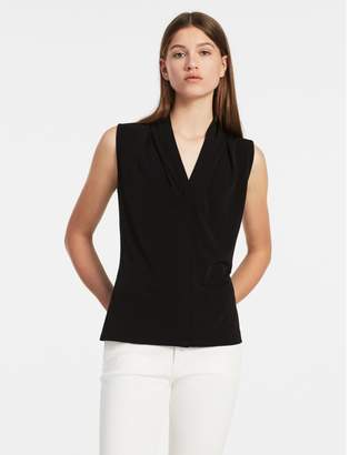 Calvin Klein V-Neck Stretch Sleeveless Top