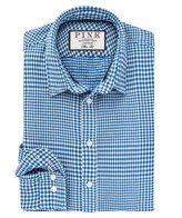 Thomas Pink Beaumont Check Slim Fit Button Cuff Shirt