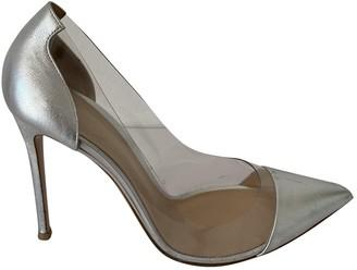 Gianvito Rossi Plexi Silver Plastic Heels