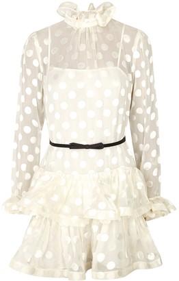 Zimmermann Lovestruck polka-dot silk-blend mini dress