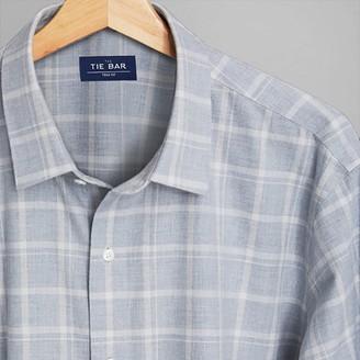 Tie Bar Multicolored Check Grey Casual Shirt