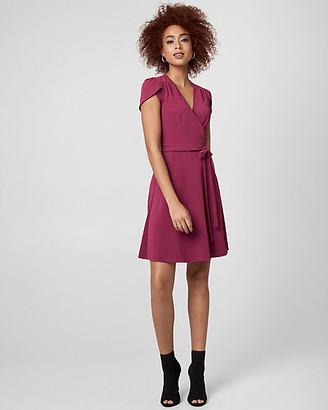 Le Château Textured Knit Wrap-Like Dress