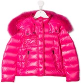 Moncler faux-fur hooded puffer jacket
