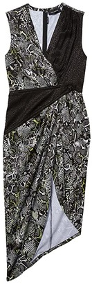 Yigal Azrouel Cross Front Geometric Mid-Piece Dress (Python) Women's Clothing