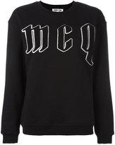 McQ by Alexander McQueen embroidered logo sweatshirt