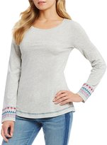 Tommy Bahama Seaport Embroidered Boat Neck Tee
