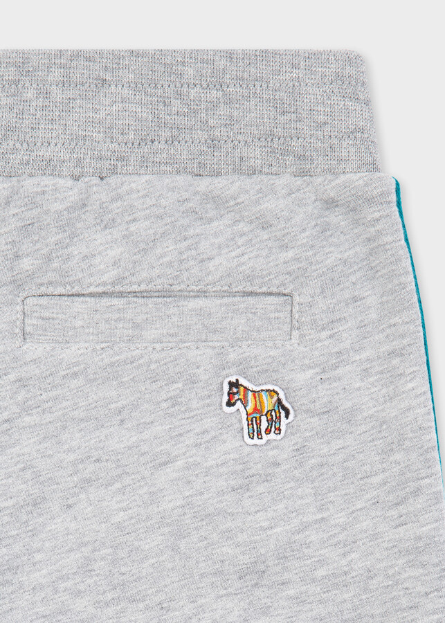 Thumbnail for your product : Paul Smith 2-6 Years Grey 'Zebra' Sweatpants With 'Artist Stripe' Trims