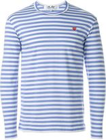 Comme des Garcons mini heart striped T-shirt