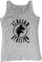 2Bhip Rocky 70's Sports Boxing Movie Distressed Italian Stallion Adult Tank Top Shirt