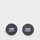 Paul Smith Men's Navy Silk Camera Cufflinks