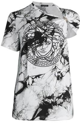 Versace Tie-Dye Medusa Cinch T-Shirt
