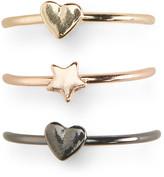 Heart Star Ring 3-Pack