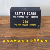 Graham and Green Yellow Letter Board Letters