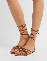 Charlotte Russe Strappy Lace-Up Thong Sandals