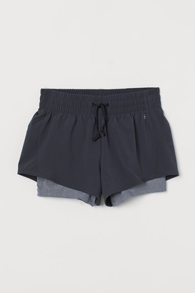 H&M Double-layered running shorts