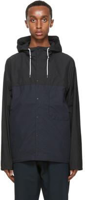 Nanamica Black and Navy Cruiser Jacket