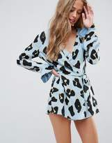 Asos Animal Print Robe