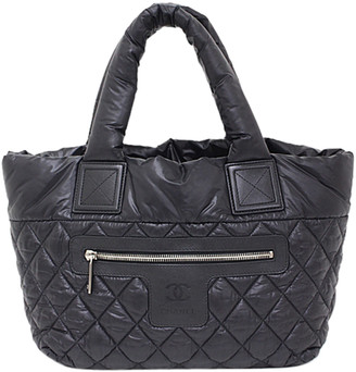 Chanel Black/Bordeaux Quilted Nylon Coco Cocoon Reversible Tote