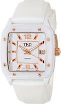 TKO ORLOGI Women's TK579-WT Genuine Ceramic White Rubber Strap Watch