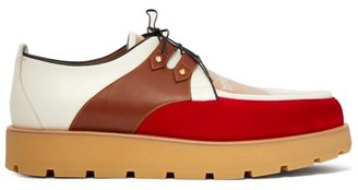 Christian Louboutin Marcello Crepe Leather Creepers - Multi