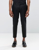 Religion Skinny Cropped Smart Trousers In Black