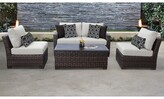 Kathy Ireland Homes & Gardens By Tk Classics River Brook 5 Piece Rattan Sofa Seating Group with Cushions Homes & Gardens by TK Classics