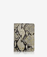 "GiGi New York 7"" Wire-O-Notebook, Gold Wash Embossed Python Leather"