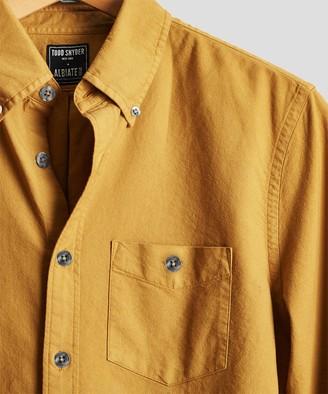 Todd Snyder Stretch Garment Dyed Oxford in Mustard