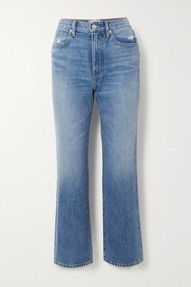SLVRLAKE London Cropped High-rise Straight-leg Jeans - Mid denim