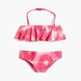 J.Crew Girls' ruffle bikini set in tie-dye