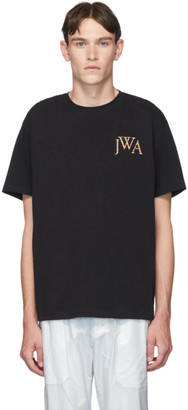 J.W.Anderson Black Embroidered Logo T-Shirt