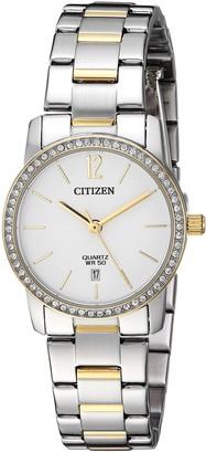 Citizen Women's Quartz Stainless Steel Casual Watch Color:Two Tone (Model: EU6038-89A)