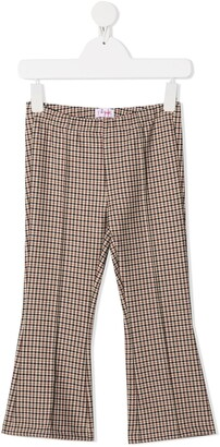 Il Gufo Checked Cropped Trousers