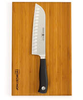 Wusthof Grand Prix II 2 Piece Santoku and Board Set