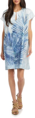 Karen Kane Palm Print Shift Dress