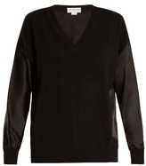 Amanda Wakeley The Vikander silk-satin and cashmere sweater