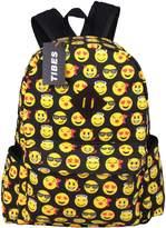 Tibes School Backpack Student Canvas Emoji Backpack Cute Bags kids Backpack Multicolor