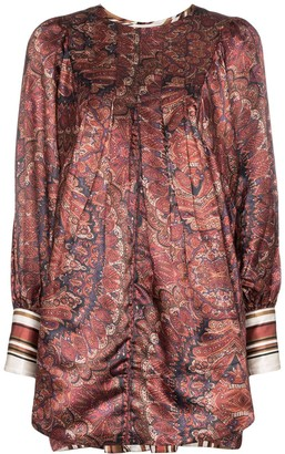 By Ti Mo Vintage paisley print satin mini dress