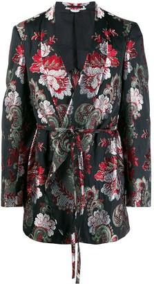 Comme des Garcons floral jacquard blazer