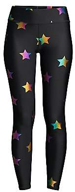 Terez Women's Rainbow Star Foil Print Leggings