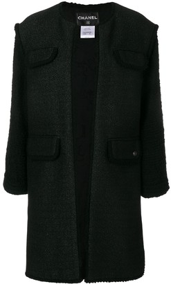 Chanel Pre-Owned frayed open coat