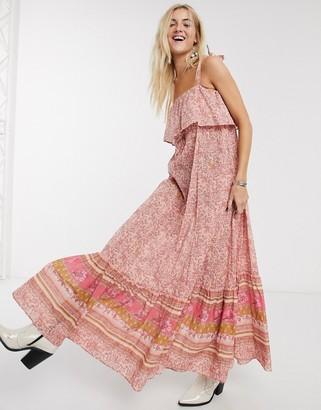 Free People tangier babydoll maxi dress in rose