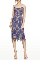 BCBGMAXAZRIA Blue Lace Dress