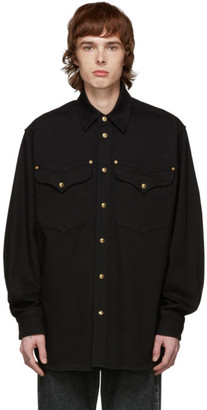 Versace Black Denim Shirt