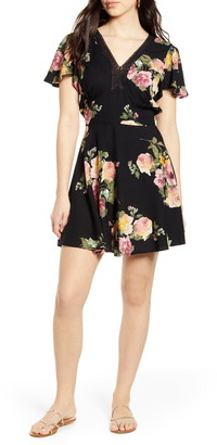 Band of Gypsies Sycamore Floral Print Minidress